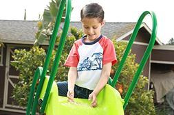 SLIDEWHIZZER Indoor Outdoor Kids Playground Slide; 8-FT Free