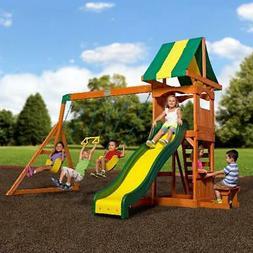 Big Backyard Weston Wooden Cedar Swing Set Outdoor Playgroun