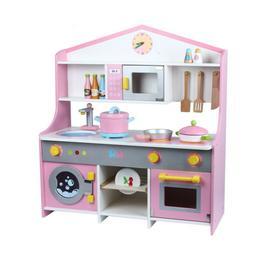 Wood Kitchen Toy Kids Cooking Pretend Play Set Toddler Woode