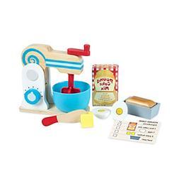 wooden a cake mixer set