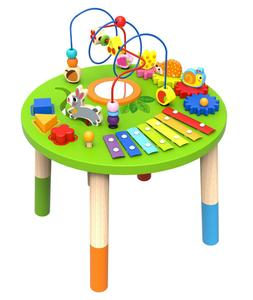 Wooden Activity Table for Toddlers | Multi-Purpose Playset E