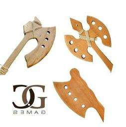 Wooden Axe Play Set for Kids 3 Pack Handmade Natural Wood To