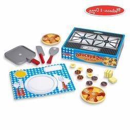 Melissa & Doug Wooden Food Set-Flip & Serve Pancakes 142972