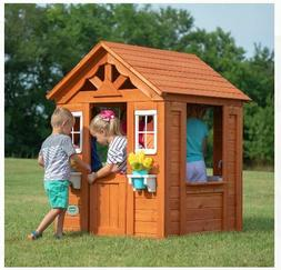 Wooden Play House For Kids Children Girls Boys Outdoor Prete