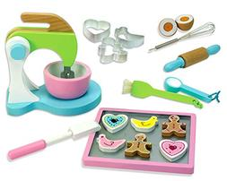 Childrens Wooden Play & Pretend Food Set, Cookie Baking Set