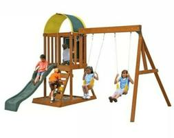 Wooden Swing Play Set Ainsley Kidcraft Multi-Level Child Tod