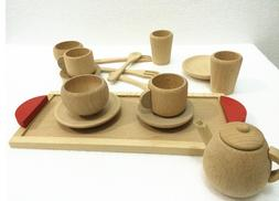 Wooden Toys Cup Set Pretend Play Kitchen Educational Infant
