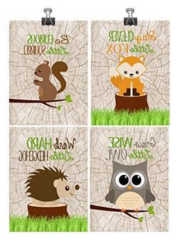 woodland nursery print