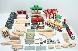 Brio World 33052 Deluxe Railway Set Wooden Toy Train Set Kid