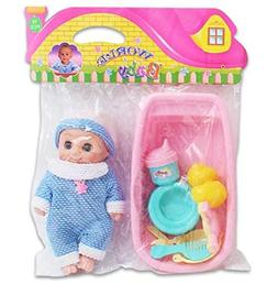4SGM World Baby Doll Bath Tub Set Toy Play Set