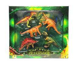 World Of Dinosaurs 5 Piece Play Set Jumbo 4 inch Dinosaurs