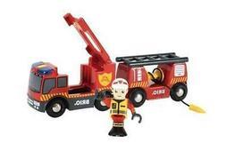 BRIO World Vehicle - Emergency Fire Engine Wooden Train Set