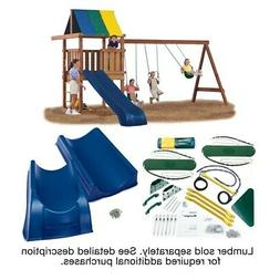 Wrangler Deluxe Swing Set Hardware Kit with Slide