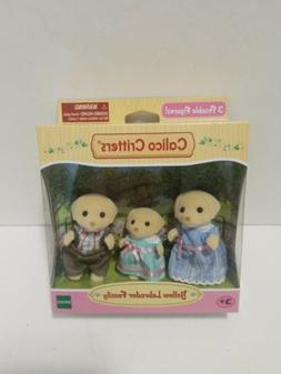 Calico Critters Yellow Labrador Family 4 Figurine Set New in